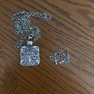 Tree Necklace and Earrings Set